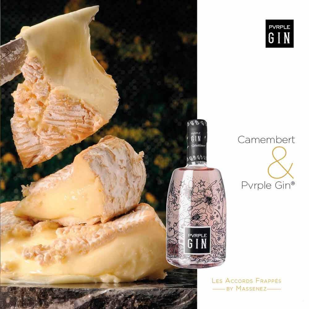camembert & pvrple gin